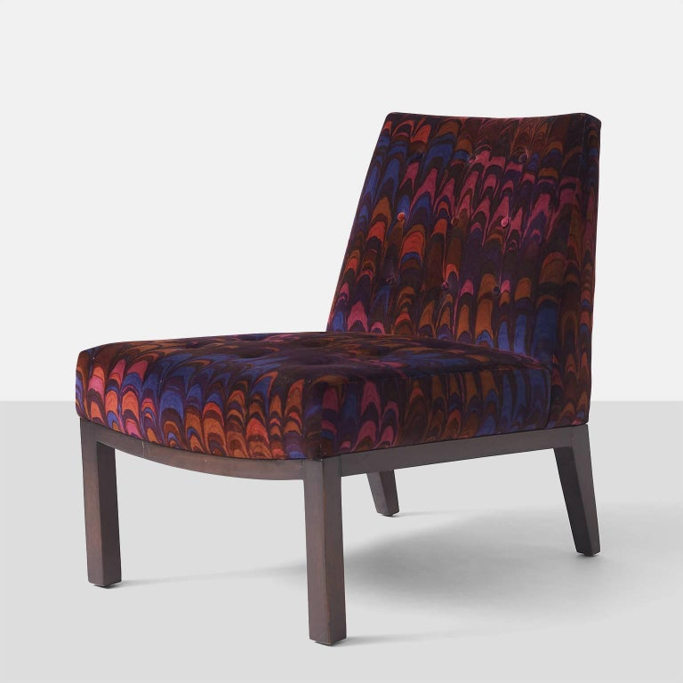 Mid-Century Modern Edward Wormley Slipper Chairs for Dunbar For Sale