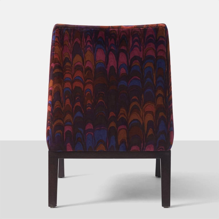 Mid-20th Century Edward Wormley Slipper Chairs for Dunbar For Sale