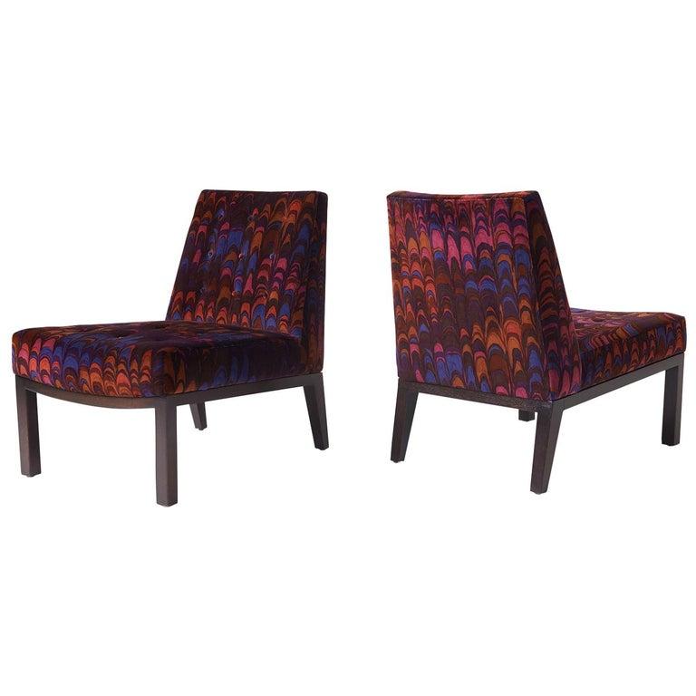 Edward Wormley Slipper Chairs for Dunbar For Sale