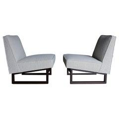 Edward Wormley Slipper Lounge Chairs for Dunbar, circa 1955