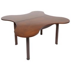 Edward Wormley Special Order Drop-Front Clover Shaped Table