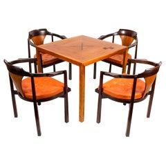 Edward Wormley Table & Chairs for Dunbar with Gertrude & Otto Natzler Tiles