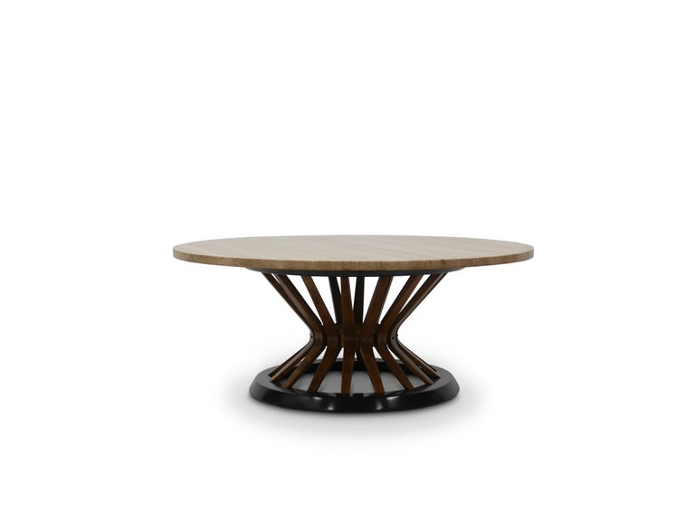 Mid-Century Modern Edward Wormley Travertine Cocktail Table For Sale