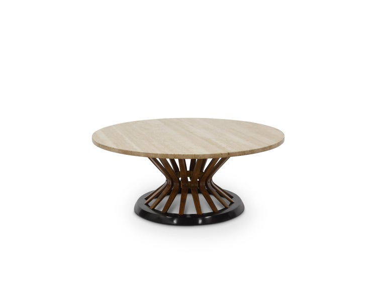 Mid-20th Century Edward Wormley Travertine Cocktail Table For Sale