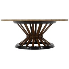 Edward Wormley Travertine Cocktail Table