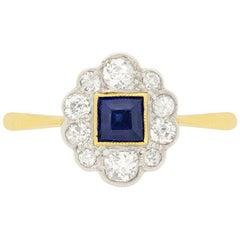 Edwardian 0.35 Carat Sapphire and Diamond Ring, circa 1910s