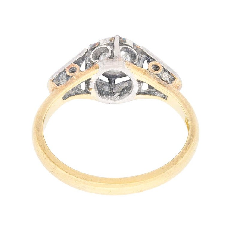 Women's or Men's Edwardian 0.50 Carat Diamond Solitaire Engagement Ring, circa 1910 For Sale
