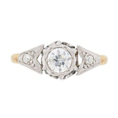 Edwardian 0.50 Carat Diamond Solitaire Engagement Ring, circa 1910