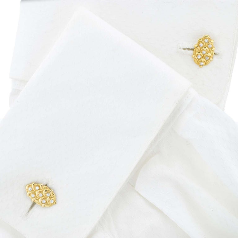 Edwardian 0.50 Total Carat Diamond Cufflinks For Sale 2