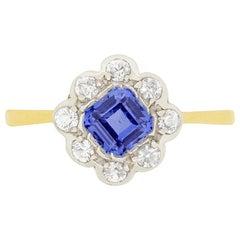 Edwardian 0.50 Carat Sapphire and Diamond Ring, circa 1910s