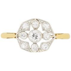 Edwardian 0.60 Carat Diamond Cluster Ring, circa 1910s