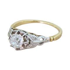 Edwardian 0.71 Carat Old Cut Diamond Engagement Ring, circa 1910