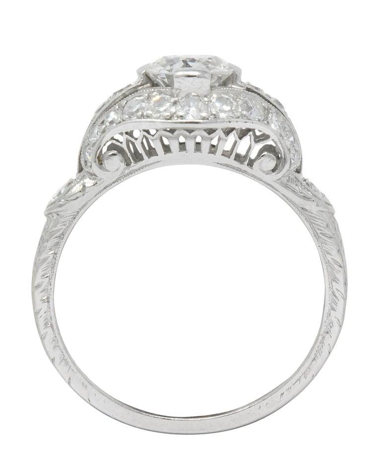 Edwardian 0.80 Carat Diamond Platinum Engagement Alternative Ring For Sale 3