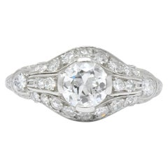 Edwardian 0.80 Carat Diamond Platinum Engagement Alternative Ring