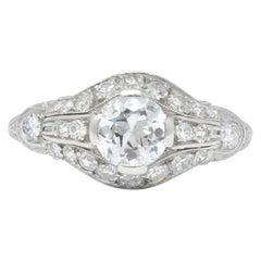 Edwardian 0.80 Carat Diamond Platinum Engagement Ring