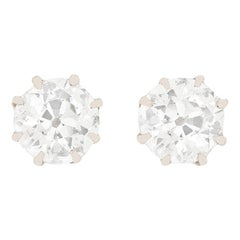 Edwardian 1.00 Carat Diamond Earrings, circa 1910