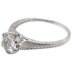 Edwardian 1.04 Carat Antique Solitaire Engagement Ring