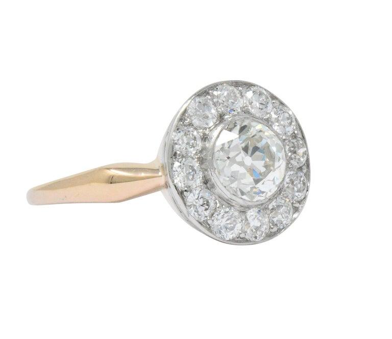 6df97bf3c9686 Edwardian 1.35 Carat Diamond Platinum-Topped 14 Karat Rose Gold Engagement  Ring