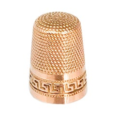 Edwardian 14-Karat Gold Thimble