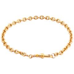 Edwardian 18 Carat Gold Chain Bracelet