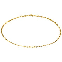 Edwardian 18 Karat Yellow Gold Necklace