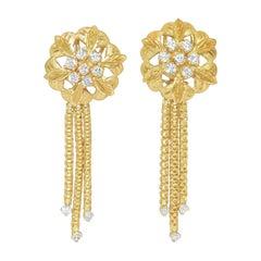 Edwardian 2.00 Carat Diamond and Gold Dangle Earrings