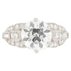 Edwardian 2.20ct Diamond Engagement Ring, c.1910s