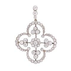 Edwardian 2.60 Carat Diamond Pendant, circa 1910