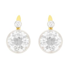 Edwardian 8.31 Carat Diamond Drop Earrings, circa 1910