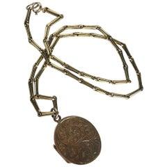 Edwardian 9 Carat Gold Albert or Necklace
