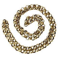 Edwardian 9 Carat Gold Chain Necklace