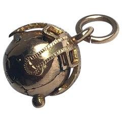 Edwardian 9 Carat Gold Masonic Orb Pendant
