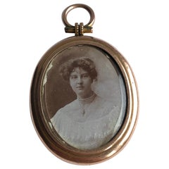 Edwardian 9 Carat Gold Picture Locket Pendant