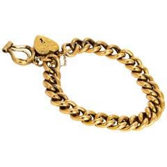 Edwardian 9 Carat Old Curb Chain Bracelet