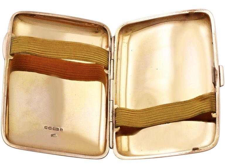 Early 20th Century Edwardian 9-Karat Rose Gold and Enamel Cigarette Case For Sale