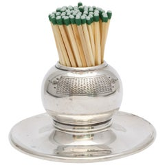 Edwardian All Sterling Silver Match Striker on Sterling Silver Base