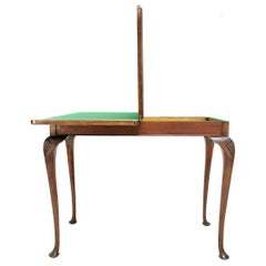 Edwardian Antique Desk Console Folding Card Hall Writing Table