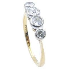 Edwardian/Art Deco 4 Stone Old European Cut Diamond Dress Ring or Wedder