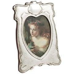 Edwardian Art Nouveau Style Sterling Silver Photograph Frame