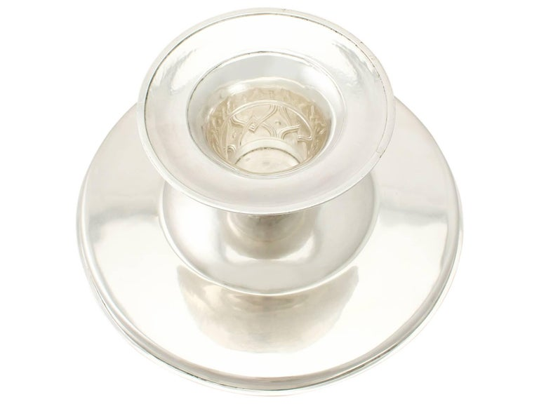 Antique Edwardian Arts & Crafts Style English Sterling Silver Tazza/Centerpiece For Sale 2