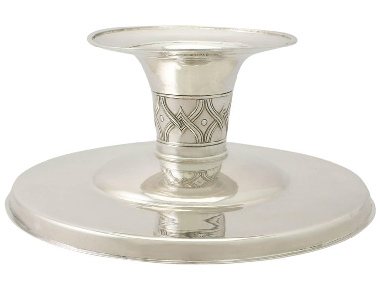 Antique Edwardian Arts & Crafts Style English Sterling Silver Tazza/Centerpiece For Sale 3