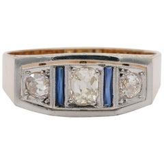 Edwardian Austro Hungarian Diamond Trilogy Ring