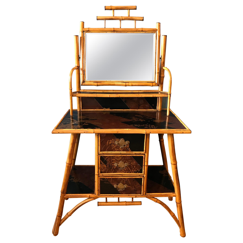 Edwardian Bamboo Dresser