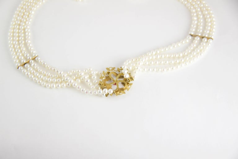 Edwardian Bespoke Pearl Necklace In Excellent Condition For Sale In Roxbury, CT