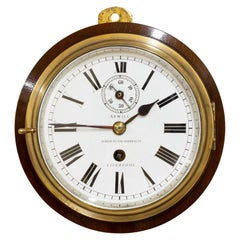 Edwardian Brass Cased Ships Clock by Sewill, Liverpool