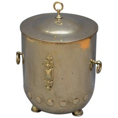 Edwardian Brass Coal Bin