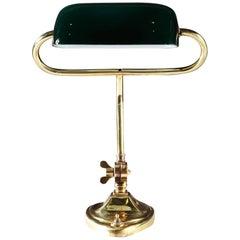 Edwardian Brass Desk Lamp