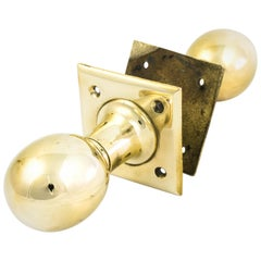 Edwardian Brass Door Knobs