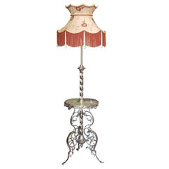 Edwardian Brass Extending Standard Lamp