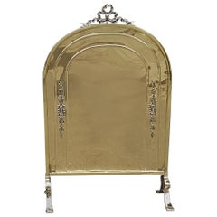 Edwardian Brass Fire Screen